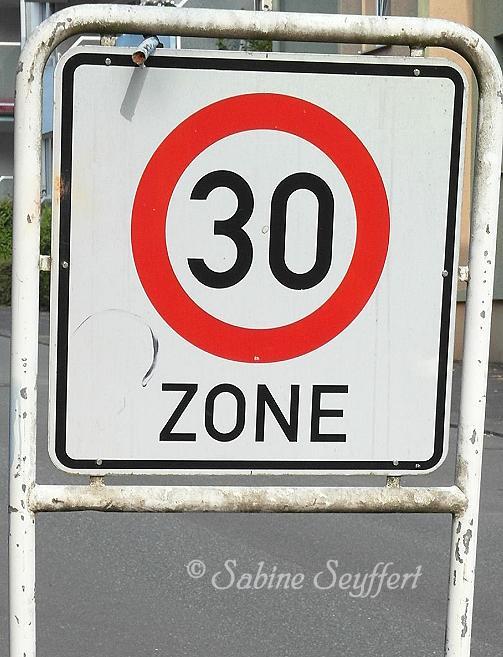 Schulwegtraining 30 Zone vorn