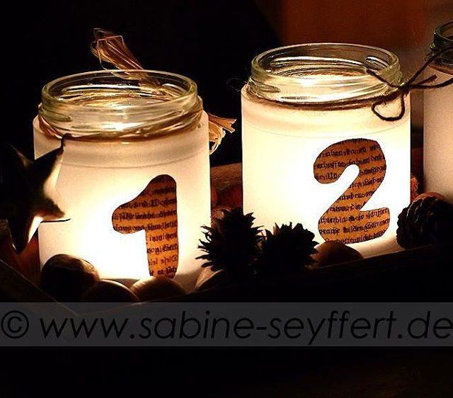 Unser Adventsglser im Einsatz Leuchtende Abendgre und einen gemtlichen Restsonntag!hellip