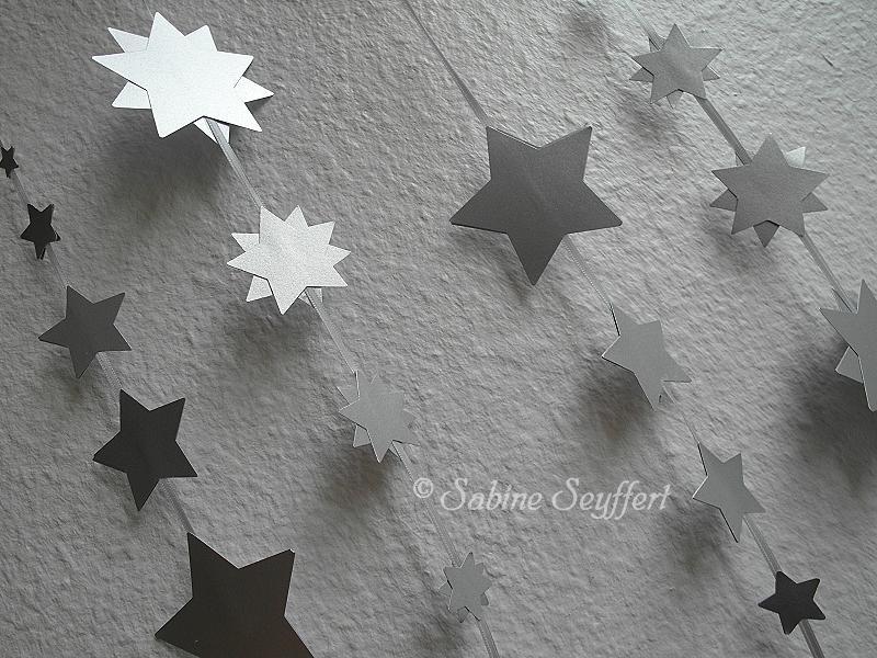 Sternenkette silber 3