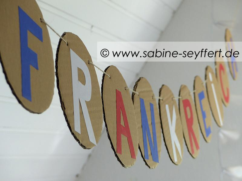Frankreich Girlande Upcycling 1