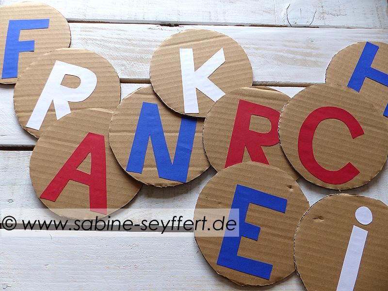 Frankreich Girlande Upcycling 5
