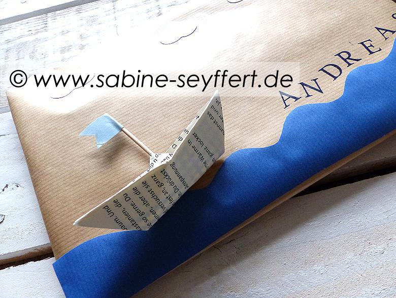 Geschenkverpackung Schiff 1