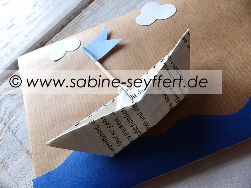 Geschenk schiff verpacken