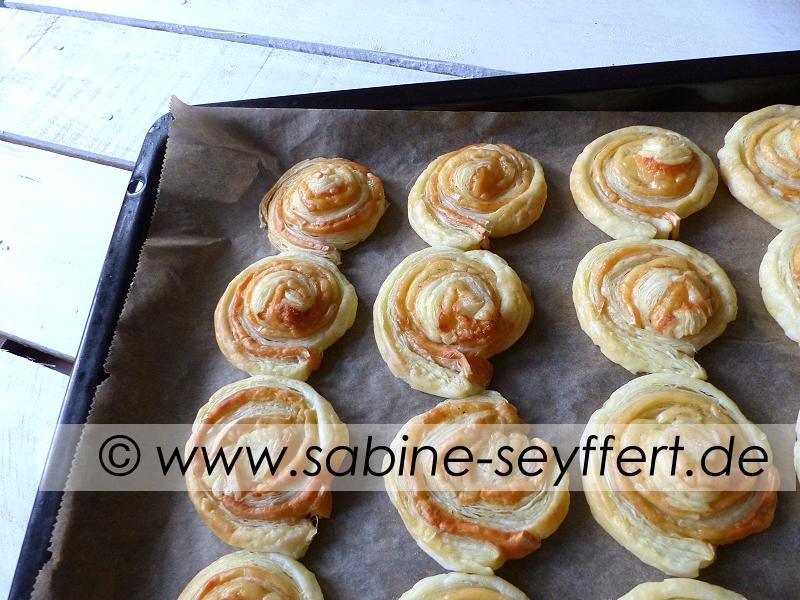 Blätterteigschnecken Käse 1