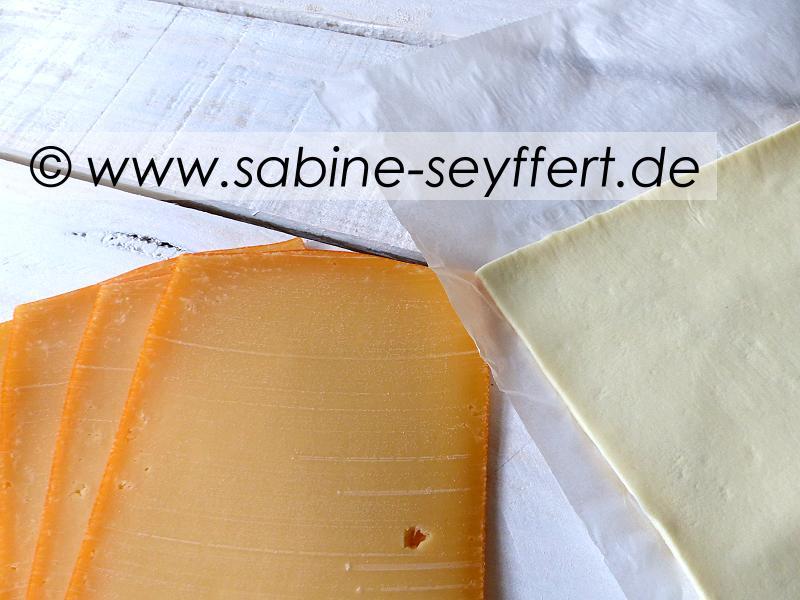 Blätterteigschnecken Käse 5