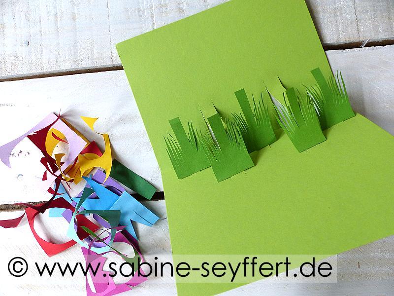 Diy Pop Up Geburtstagskarte Im Fruhlingslook Mit Kinder Blumen Fur