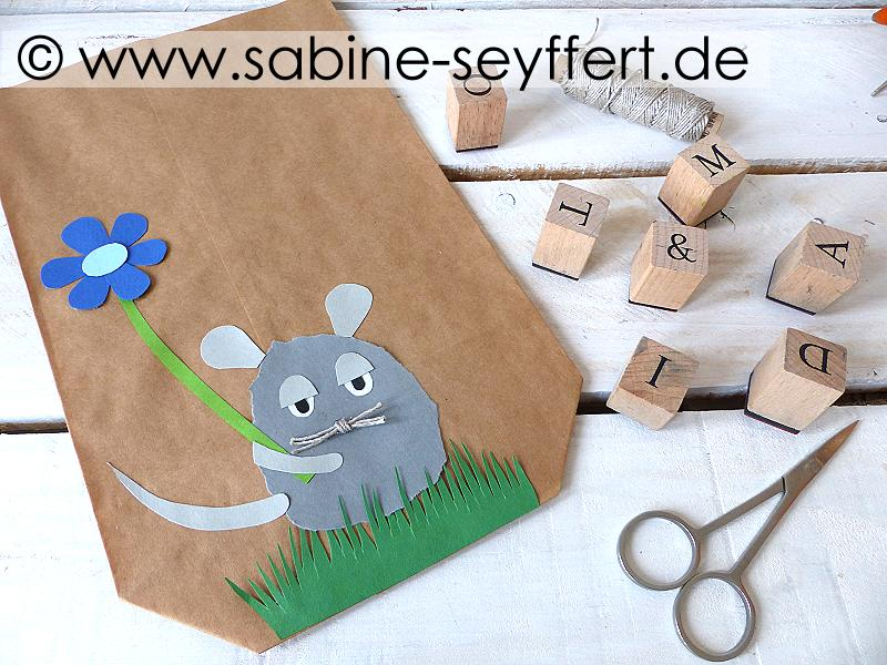 Diy Selbst Gemachte Geschenkverpackung Geschenktüte Maus