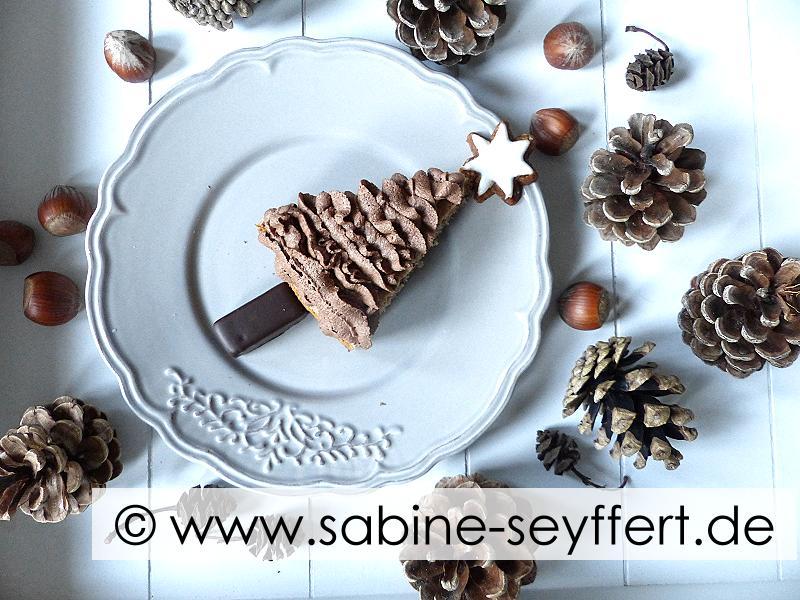 Rezept Idee Fur Weihnachten Selbst Gebackener Tannenbaum Kuchen Im
