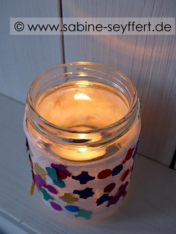 Diy Bastelidee Für Kinder Bunte Konfetti Lichter Für