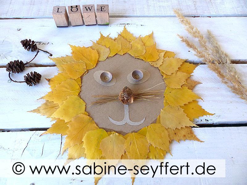 Diy Basteln Mit Naturmaterial Löwe Aus Herbstlaub Mit